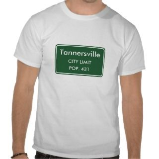 Tannersville New York City Limit Sign Tees