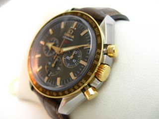 Speedmaster Broad Arrow Stahl Gold Rotgold Ref. 321.93.42.50.13.001