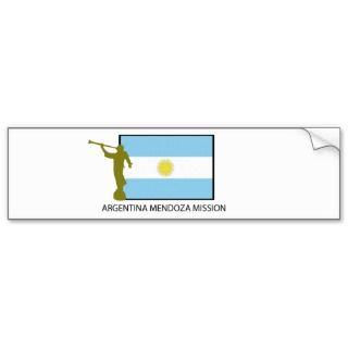 ARGENTINA MENDOZA MISSION LDS BUMPER STICKER