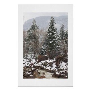 Original photo by Linda Armstrong of a snow scene outside Ouray