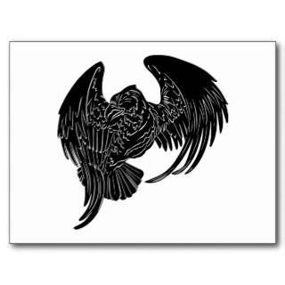 White Tribal Tattoo Eagle Post Cards