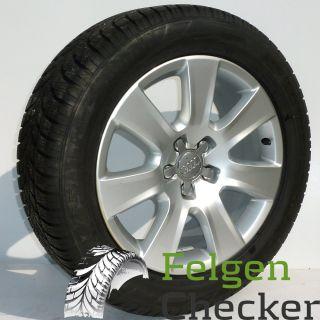 Audi A8 4H 18 Zoll Alufelgen mit Winterreifen 235/55 R18 Dunlop