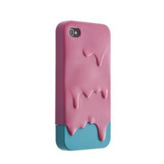 Lovely Sweet 3D Melt ice Cream Hard Cover Case Skin for Apple iPhone 4