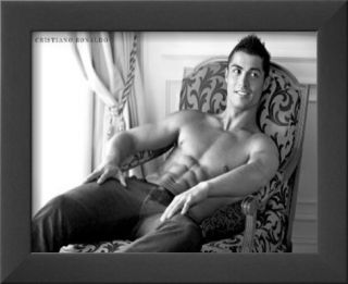 Cristiano Ronaldo Real Madrid Sports Sexy Glossy Photo Photograph Print Framed Photographic Print