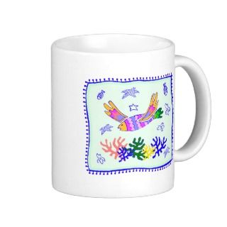 Flying Fish Quilt Mug