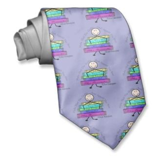 Shakespeare Quote Stick People Design Necktie