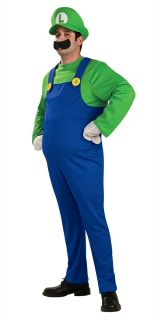 Kostüm Luigi Super Mario Bros 1980er Videospiel Herren Erwachsene