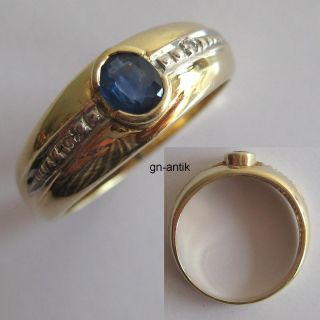 323   Aparter Ring aus Gold 585 mit Saphir und Diamanten     Video
