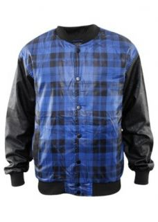 Urban Classics Checked Light College Jacket, black/royal blue