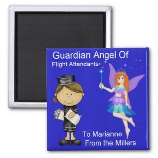 Guardian Angel of Flight Attendants by SRF Fridge Magnet