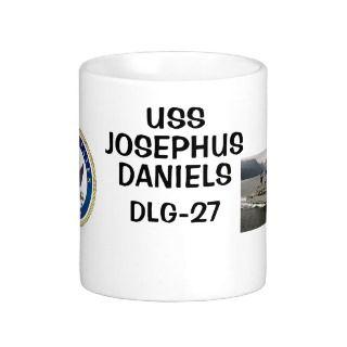 USS JOSEPHUS DANIELS DLG 27 MUGS