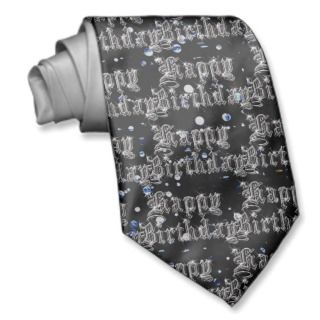 Happy Birthday Bling Necktie