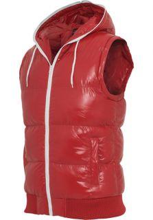 URBAN CLASSICS Hooded Bubble Vest TB332 S XXL Weste Herren Steppweste