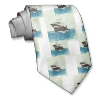 Crab Fishing Boat BETTY LEE West Coast Chart Art Ties