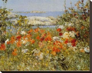Ocean View Stretched Canvas Print by Childe Hassam