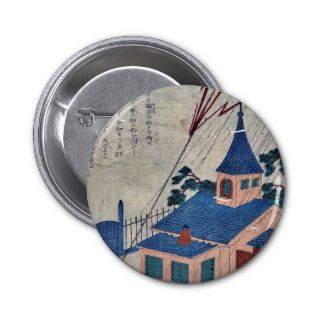 Benjamin Franklin and lightning Ukiyoe Pins