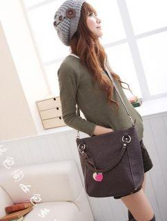 EGK14 Cute Korea Girl Faux Leather Purse Tote Satchel Hobo Handbag