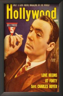 Charles Boyer   Hollywood Magazine Cover 1930s Poster