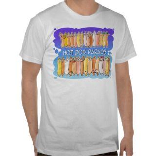 Hot Dog Parade with blue background Shirts