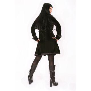 Mantel Jacke im Gothic Mittelalter Larp Style Mäntel Jacken Schwarz