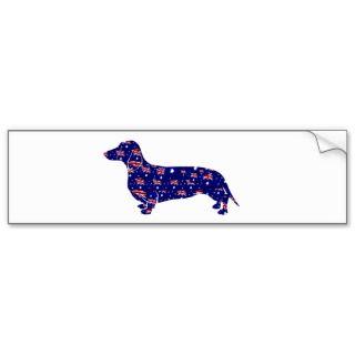 Australia Flag Dachshund Design bumper stickers by DogArtDesign