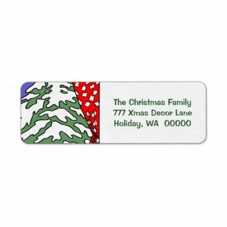 Personalisable Happy Christmas Cards Envelope Mail Return Address