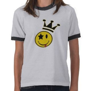 Crowned Smiley Face Kids Tee Shirt