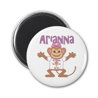 Little Monkey Arianna Magnets