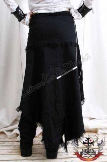 EXTREME Goth Samurai Pants+Suspender+Train Wrap+Cuff XL