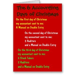 festive and financial christmas card covered in funny christmas lyrics