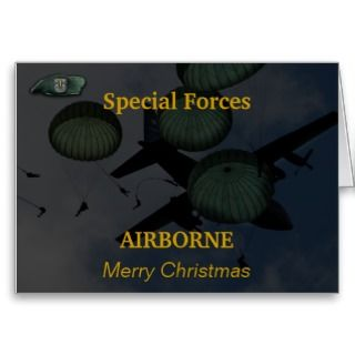 12th special forces green berets note christmas cards fort bragg flash