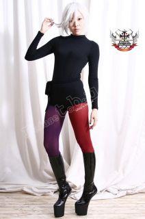 RTBU Punk Club Mock Neck Gym Dance Shirt Top Bodysuit L