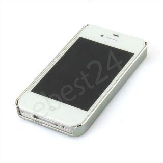 luxus weiß strass hülle gehäuse tasche case für apple iphone 4 4g