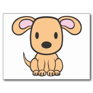 Baby Dog Cartoon Post Card