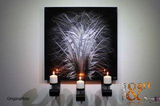 VK 349,00 METAL&ART Design WANDKERZENHALTER Silber Schwarz