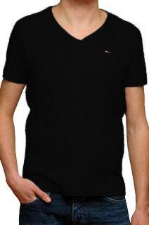 Tommy Hilfiger T Shirt Herren PANSON kurzarm schwarz Größe S   XL