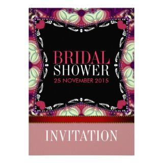 Modern Decor Style Bridal Shower Party Invitation