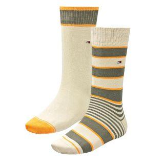 Tommy Hilfiger 4 Paar Herren Socken Strümpfe Sock STRIPE RUGBY 39 42