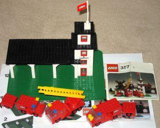 Lego Set 357 Feuerwache mit Fahrzeugen von 1973 komplett Fire Station