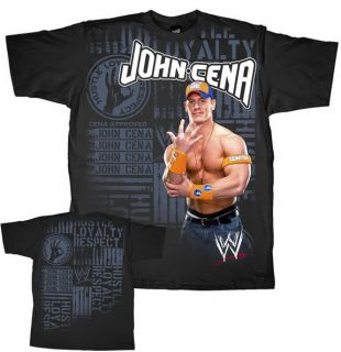 JOHN CENA Dedicated WWE Authentic T shirt New