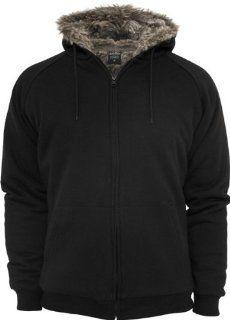 URBAN CLASSICS Winter Zip Hoody (mit Fell Imitat), grey