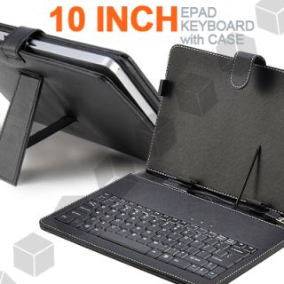 USB Tastatur Case Tasche Cover f. SUPERPAD VI ANDROID 4.0 10,2 ZOLL