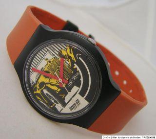 Junghans Youngline Quarz Herren Uhr mit Oldtimer Motiv vintage