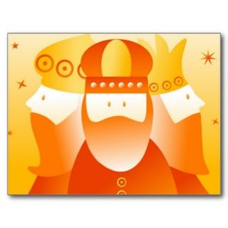 Three Wise Men & Christmas Star Postcard