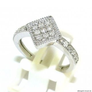 BRILLANT 0,25CT RING 375 GOLD RG 17 AB 1 EURO
