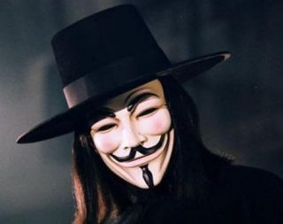 wie Vendetta Anonymous Guy Fawkes Occupy Wall Street Maske aus