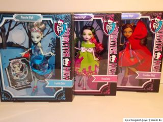 Monster High ** Frankie Stein Draculaura Clawdeen Wolf ** NEU und OVP