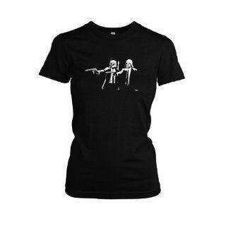 Luke & Leia & Han & Chewie T Shirt, Damen Bekleidung