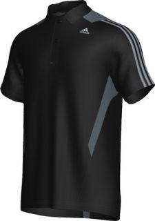 Adidas Herren Polo 365 3S Shirt Clima Cool Black Lead Schwarz Grau NEU