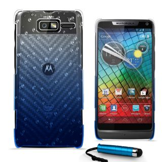 3D RAIN DROP DESIGN HARD CASE COVER For Motorola XT890 RAZR i + Film